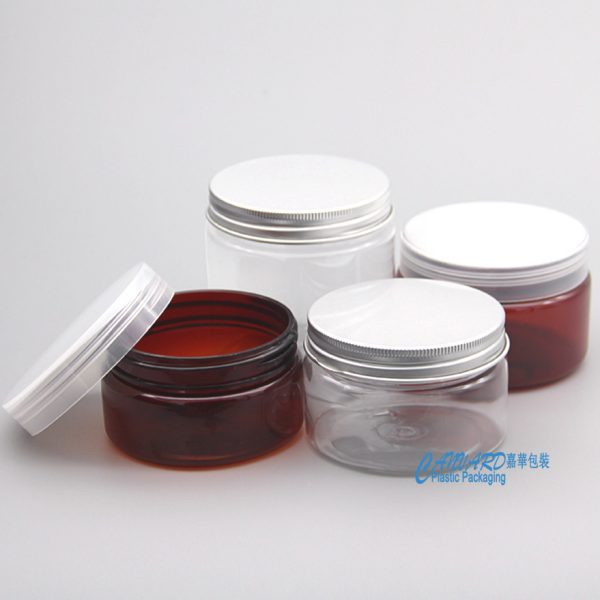 PET cream jars 100g-250g-logo