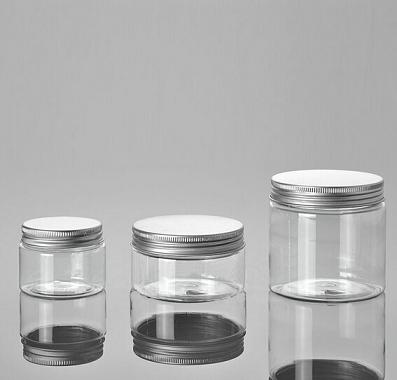 50ml-100ml-150ml-plastic cream jar with aluminium cap-small