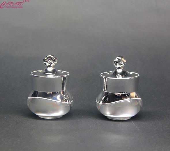 JP-148-5g silver jar–www.jh-cosmeticpackaging.cc-canvardpackaging-skype-dgnanhuang-