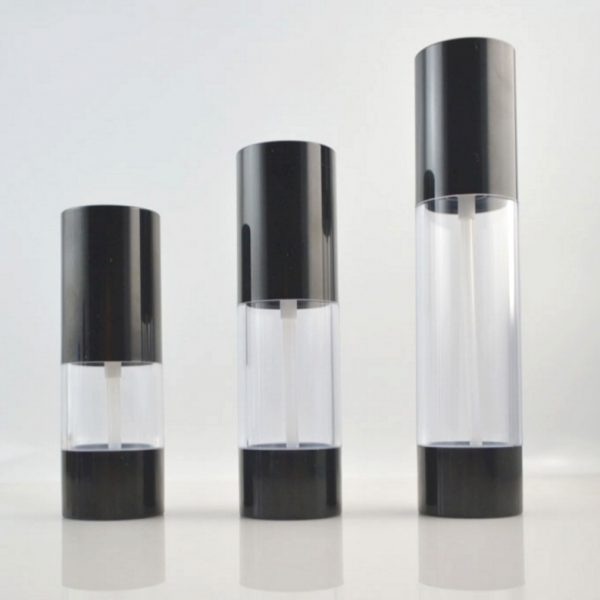 instock wholesale black airless bottle