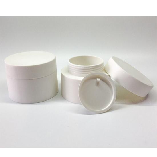 50g matte white cream jar-1