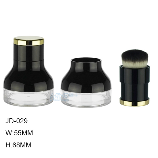 JD-029-LOOSE POWDER CASE-MINERAL POWDER CASE WITH BRUSH