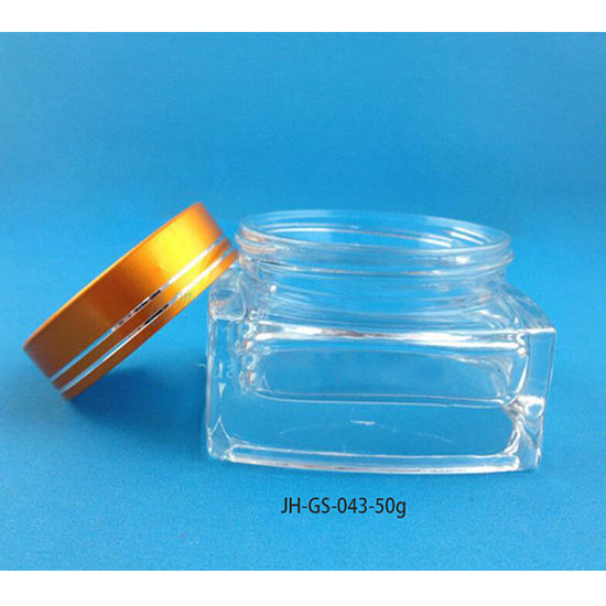 50g square glass jar-f