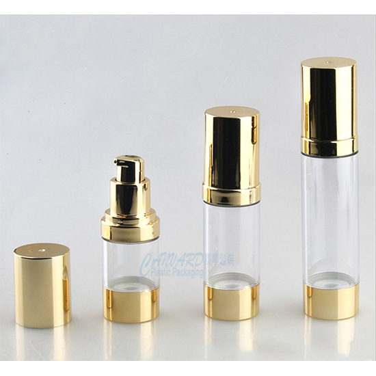 AS-001-gold airless pump bottle-15ml-30ml-50ml-f