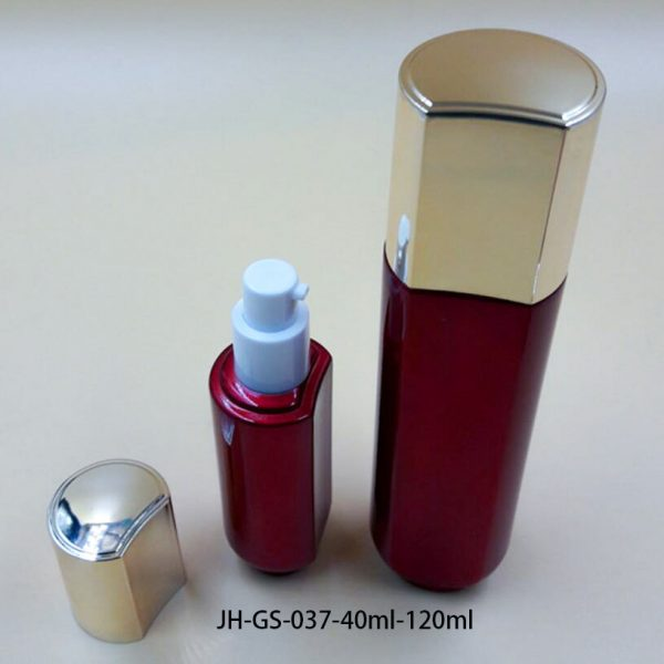 JH-GS-037-40ml-120ml-glass lotion pump bottle-1