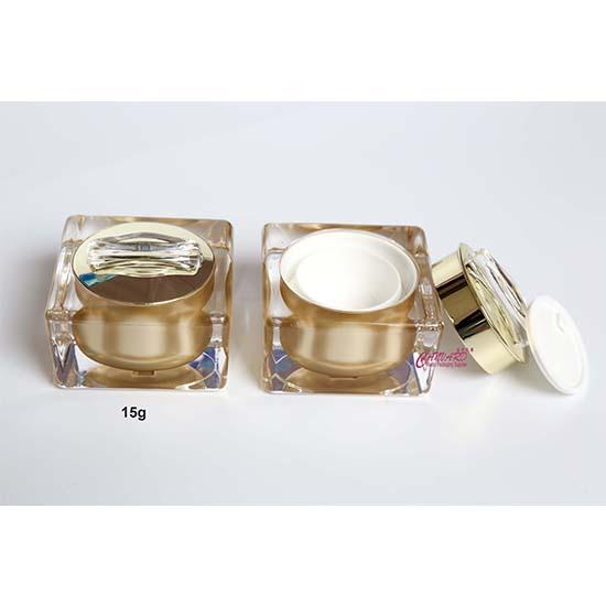 JP-139-15g golden acrylic jar-f