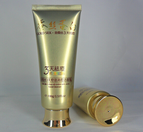 100g cleanser tube with metal cap
