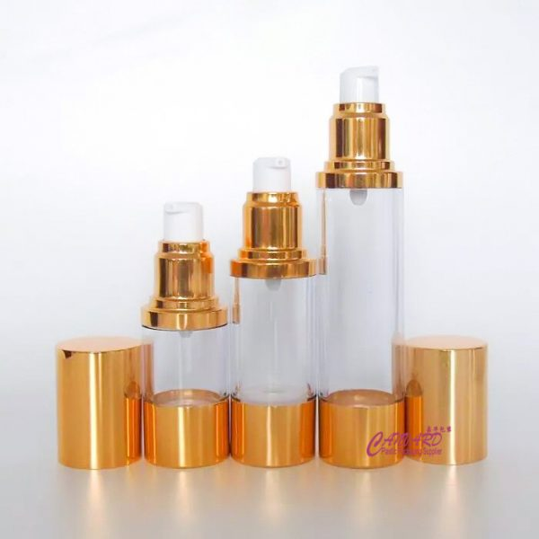 as-045-instock gold metalic airless bottle