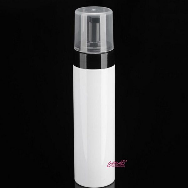 200ml black white foam bottle