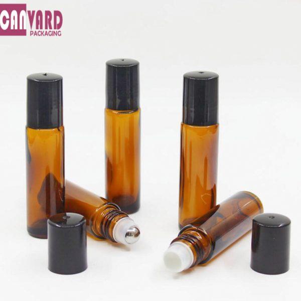10ml amber glass roll ball bottle-1